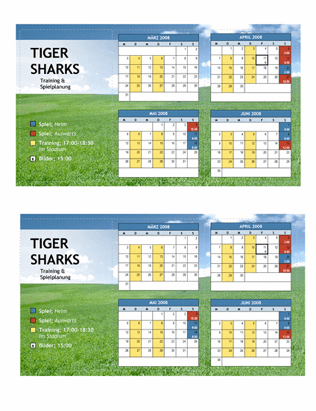 Taschenkalender 2008 für Jugendsport (Frühling)