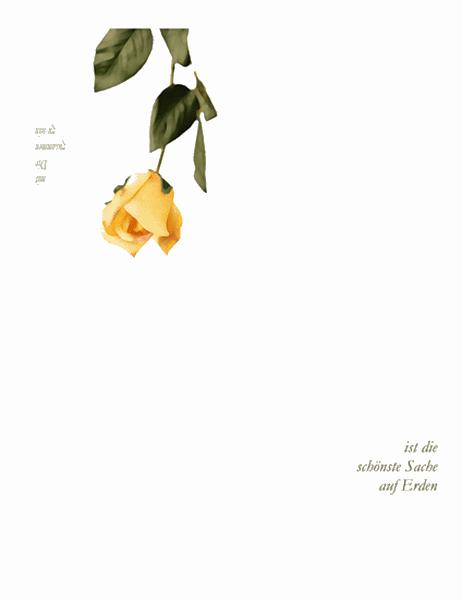 Grußkarte (mit Rose)