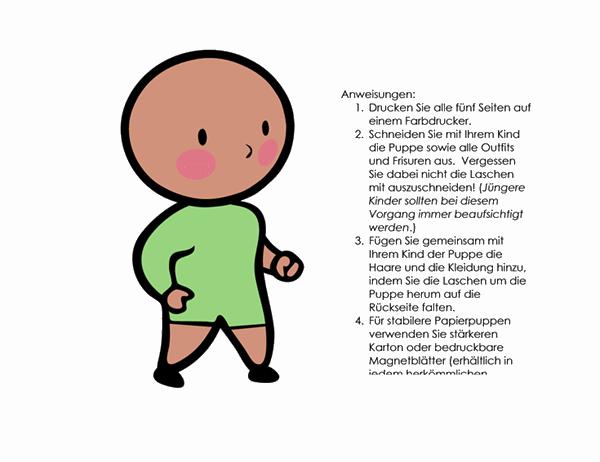 Papierpuppe (Junge, Set 2)