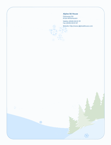Briefpapier für die Feiertage (mit Schneelandschaft)