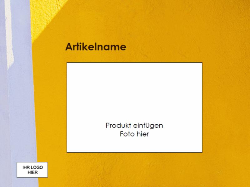 "Präsentation ""Produktüberblick"""