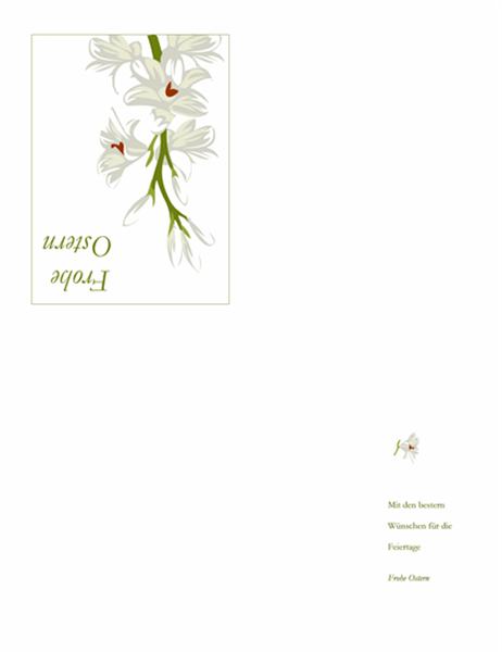 Osterkarte (mit Blumen)
