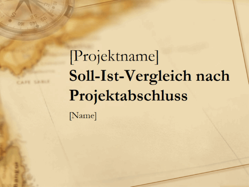 Präsentation für Projektnachbereitung
