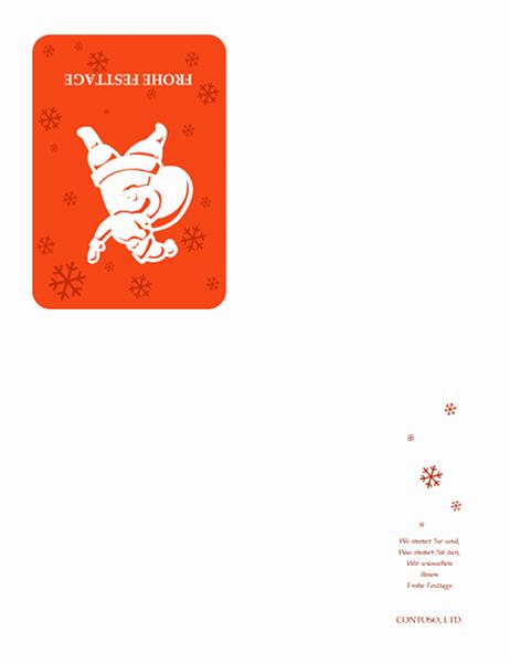 Festtagskarte (mit Weihnachtsmann)
