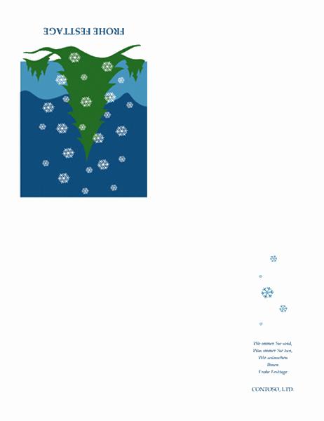 Festtagskarte von einem Unternehmen (mit Schneelandschaft)