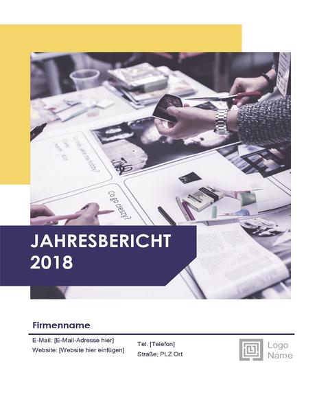 """Jahresbericht (Design """"Rot und Schwarz"""")"""