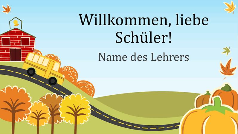 """Präsentation """"Zurück in der Grundschule"""" (Breitbild)"""