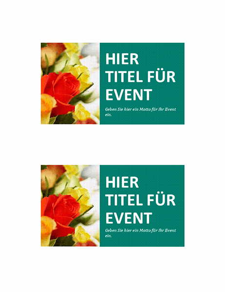 Veranstaltungskarten