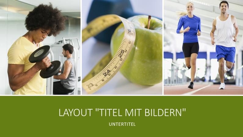 """Präsentation """"Gesundheit und Fitness"""" (Breitbild)"""