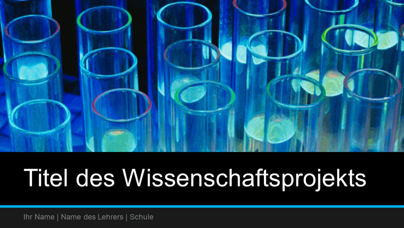 Präsentation für ein Wissenschaftsprojekt (Breitbild)