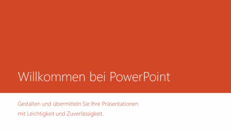 Willkommen bei PowerPoint