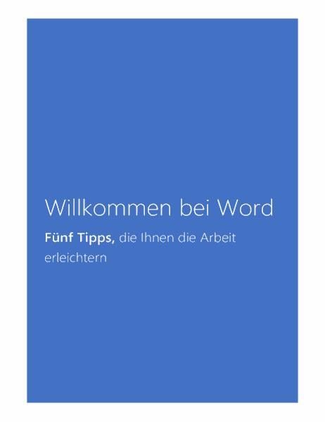 Willkommen bei Word 2013