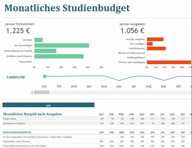 Monatliches Studienbudget