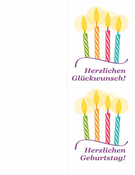 Geburtstagskarten (2 pro Seite)