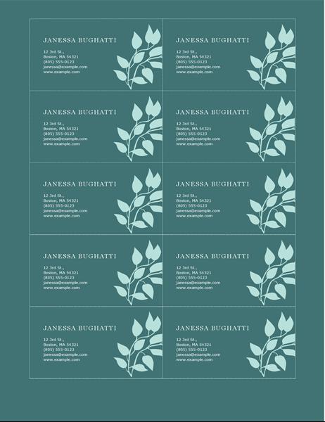 Private Visitenkarten mit Blumendesign