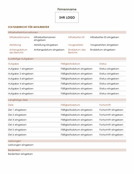 Statusbericht für Mitarbeiter