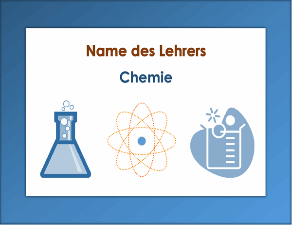 Klassenraumschild (Chemie)