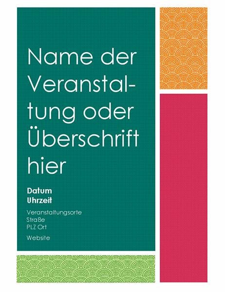 Farbfeld-Handzettel