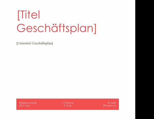 Businessplan (rotes Design)