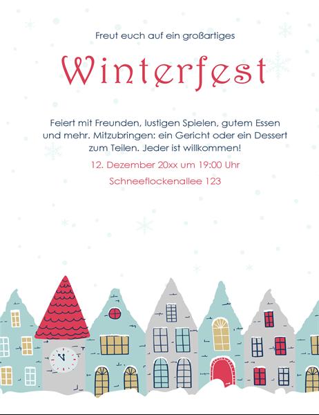 Handzettel für Winterparty
