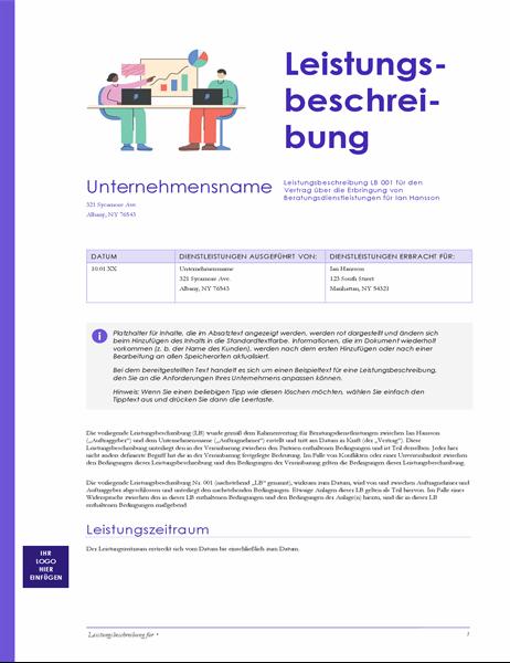 Leistungsbeschreibung (rotes Design)