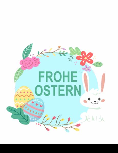 "Karte ""Frohe Ostern"" (faltbar)"