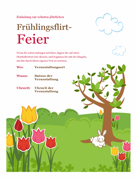 Frühlingsfeier-Handzettel