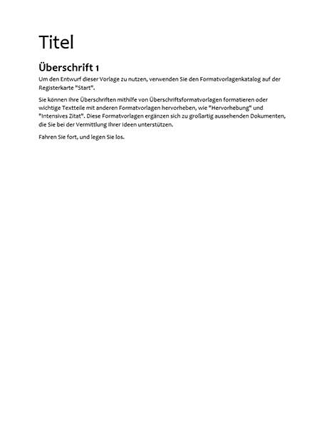Datenblatt-Design (leer)