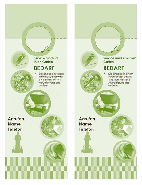 Türanhänger für Gartenbaubetrieb (2 pro Seite)