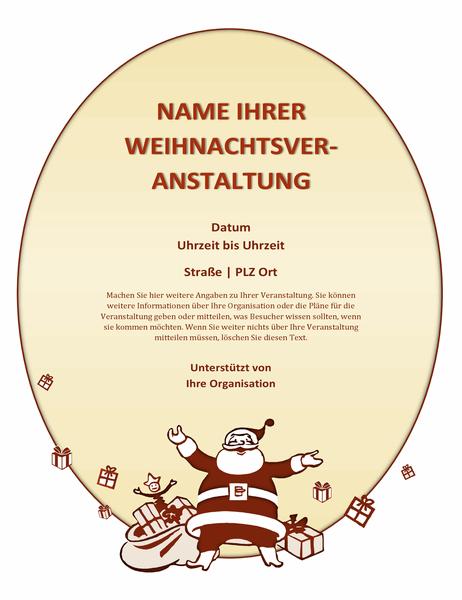 Handzettel für Weihnachtsveranstaltung