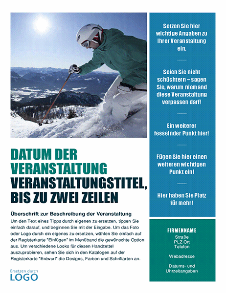 Handzettel für saisonale Veranstaltung (Winter)