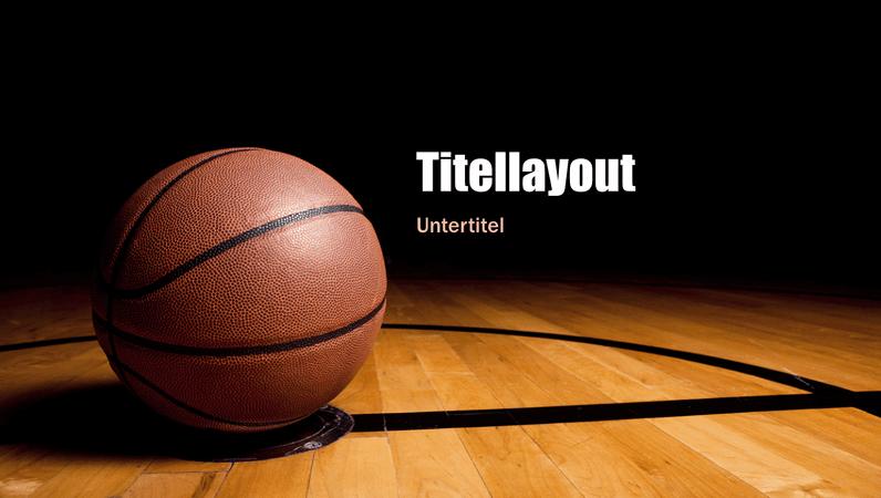 Basketballpräsentation (Breitbild)