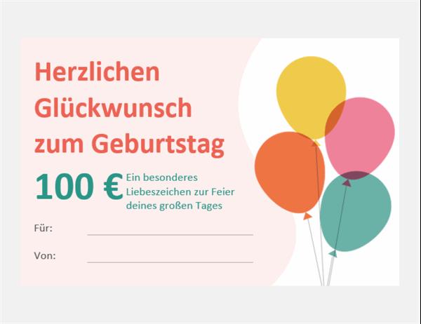 Geburtstags-Gutscheinkarte