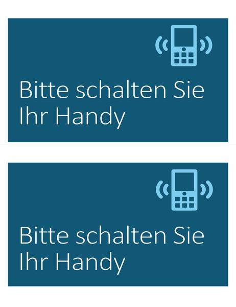 """Schild """"Kein Handy"""" (2 pro Blatt)"""