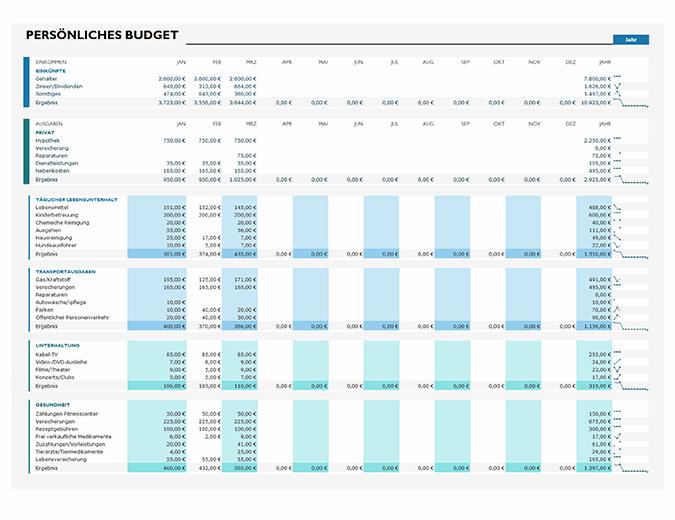 Einfaches persönliches Budget