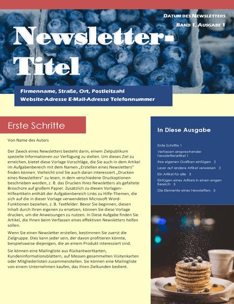 Business-Newsletter (2 Sp., 6 Seiten, Adressfeld)