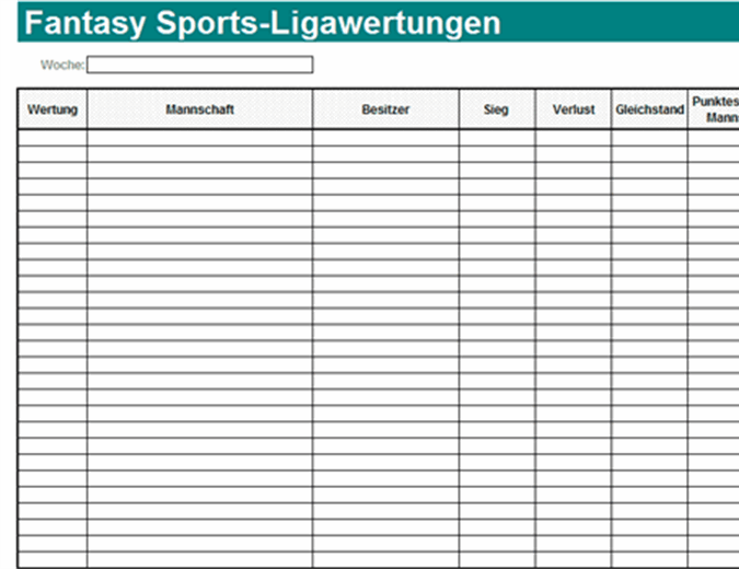 Fantasy Sports-Ligawertungen
