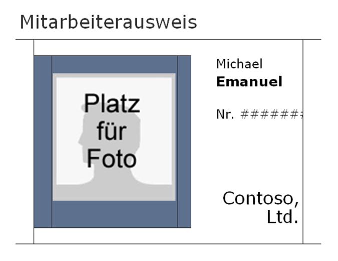 Mitarbeiterausweis (Querformat)