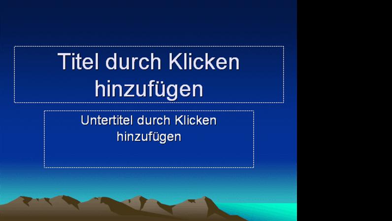 """Designvorlage """"Berggipfel"""""""