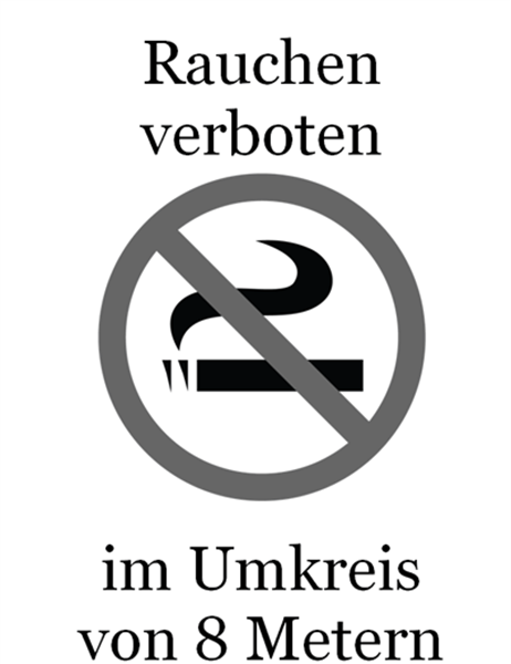 """Schild """"Rauchen verboten"""" (Schwarz und Weiß)"""