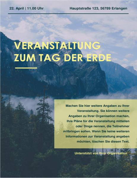 Veranstaltungs-Flyer zum Tag der Erde