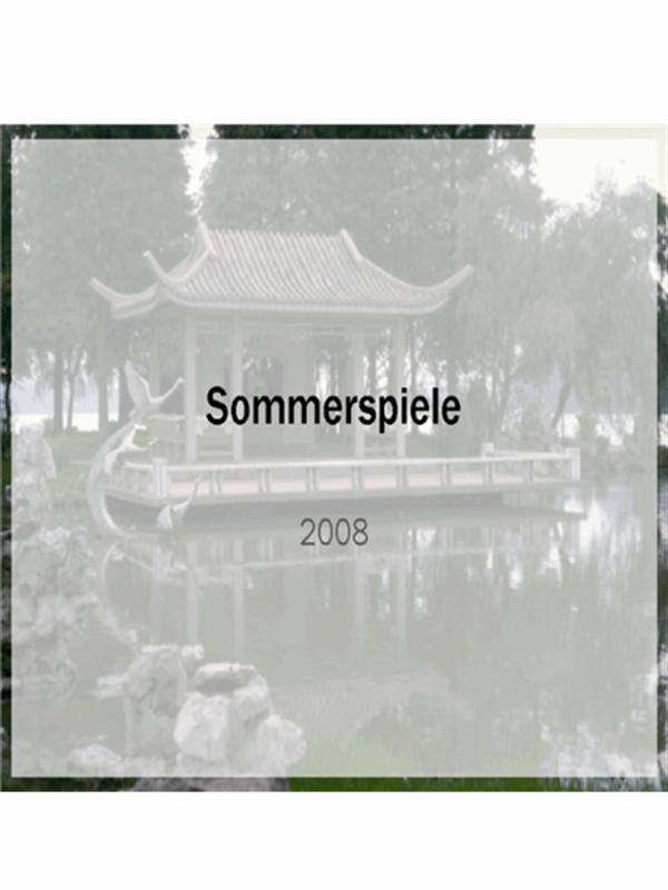 Entwurfsvorlage für die Sommerspiele 2008