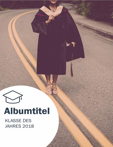 """Fotoalbum für den Schulabschluss (Design """"Textures"""")"""