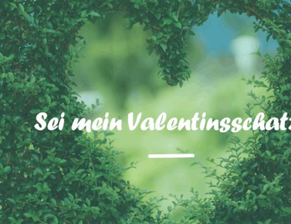 Karte zum Valentinstag (in der Mitte gefaltet)