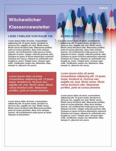 Klassennewsletter