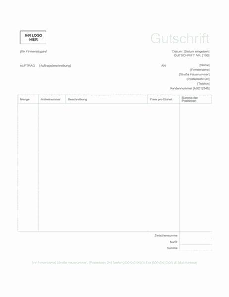 """Gutschrift (Design """"Grün"""")"""