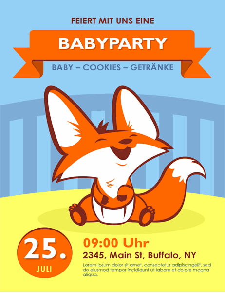 Baby-Party-Flyer