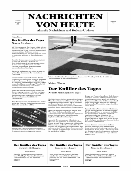 Traditionelle Zeitung