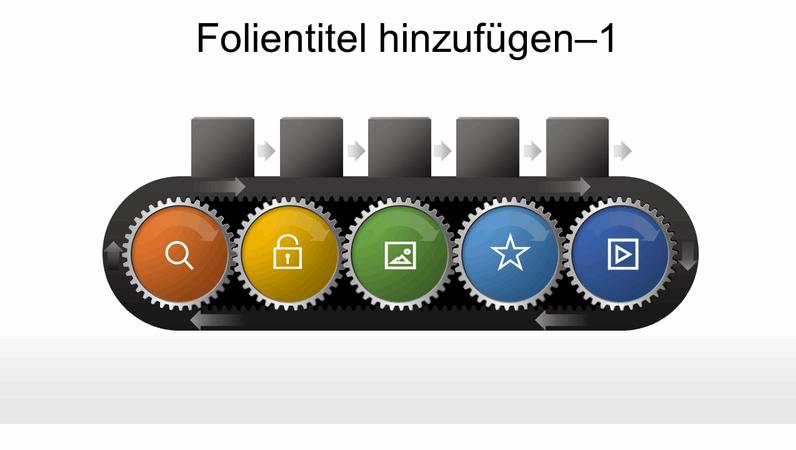 Zahnrad-Fließbandgrafik