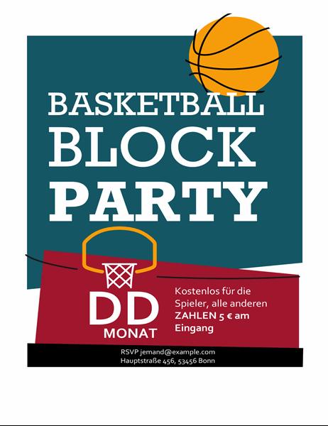 Basketball-Handzettel